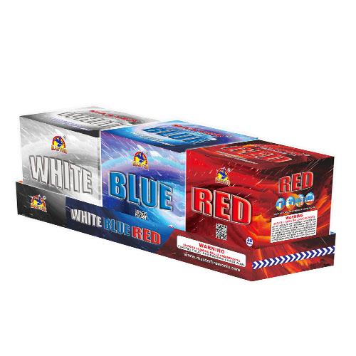 Rød, hvid, blå, 36 skud